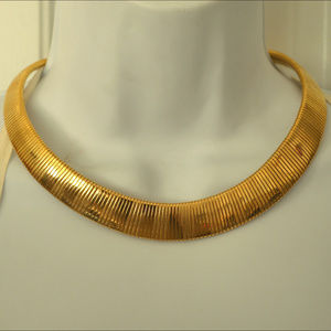 Vintage Gold Collar Necklace Choker glamour